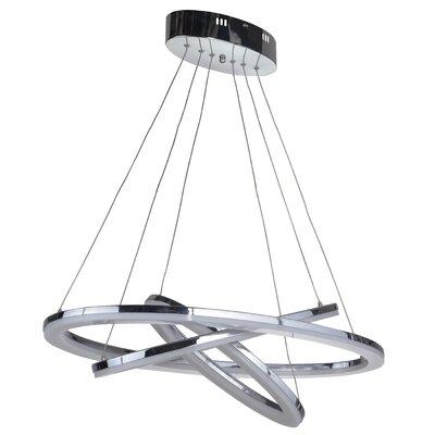 Corinna 3 Ring 3-Light LED Geometric Pendant