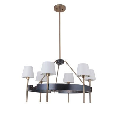 Brinsley 6-Light Shaded Chandelier
