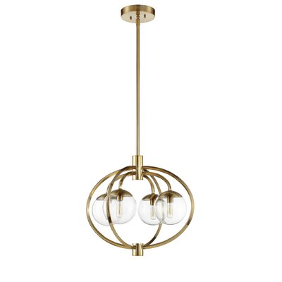 Bynoe 4-Light Mini Chandelier Finish: Satin Brass
