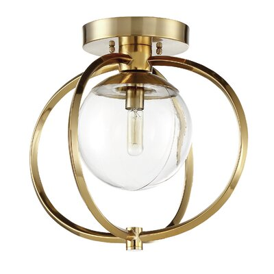 Kian 1-Light Semi Flush Mount