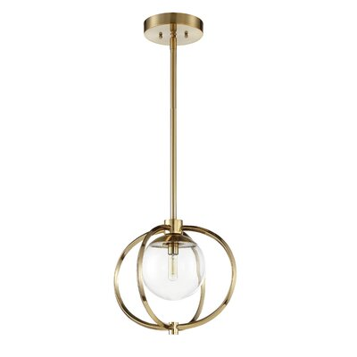 Bynoe 1-Light Mini Pendant Finish: Polished Nickel