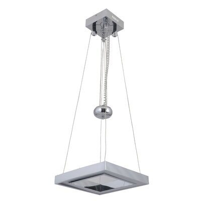 Arielle Balance Square Adjustable 1-Light LED Mini Pendant