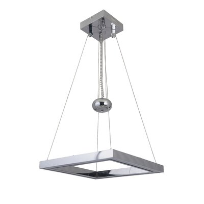 Ellis Balance Square Adjustable 1-Light LED Mini Pendant