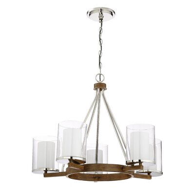 Rohrbaugh 5-Light Shaded Chandelier