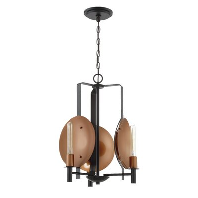 Kagamil 3-Light Candle-Style Chandelier