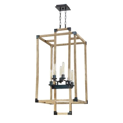 Tianna Cubic 8-Light Foyer Pendant