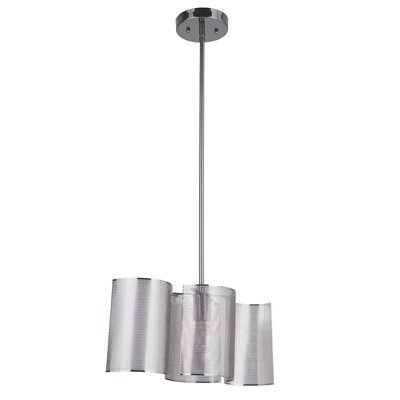Paulette 1-Light Mini Pendant Base Finish: Black Chrome