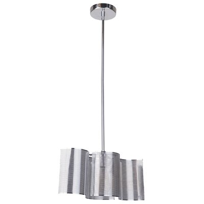 Paulette 1-Light Mini Pendant Base Finish: Chrome
