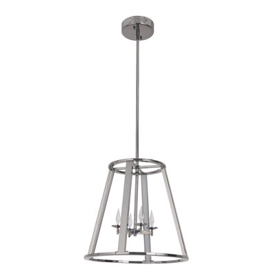 Bertsch 4-Light LED Foyer Pendant Finish: Black Chrome