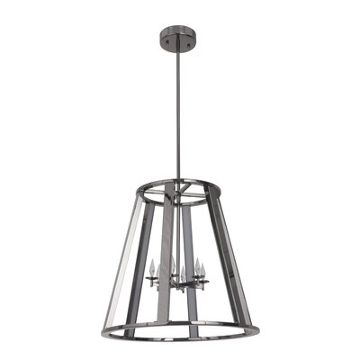 Bertsch 6-Light LED Foyer Pendant Finish: Black Chrome