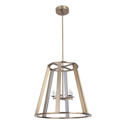 Bertsch 6-Light LED Foyer Pendant Finish: Satin Brass