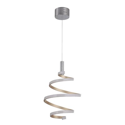 Millie 1-Light LED Mini Pendant Finish: Mercury