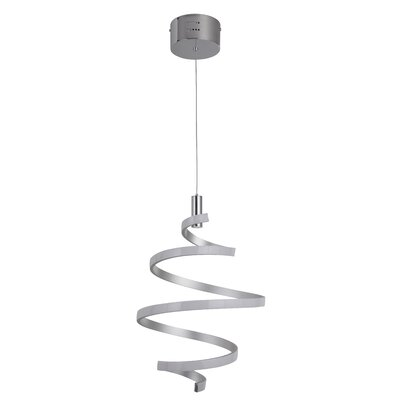 Millie 1-Light LED Mini Pendant Finish: Matte Silver/Chrome
