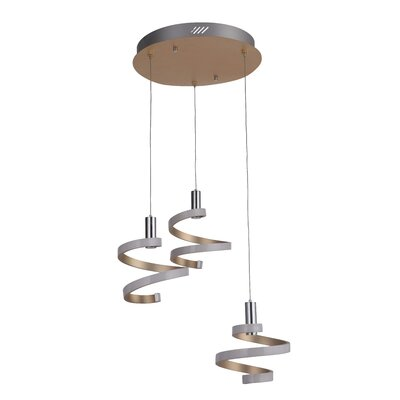 Gabrielle 3-Light LED Cascade Pendant Finish: Mercury