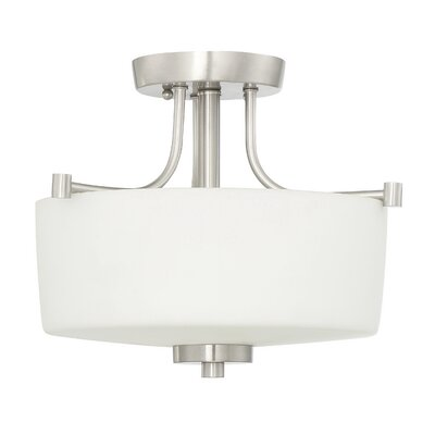 Rosalin 3-Light Semi Flush Mount Base Finish: Brushed Polished Nickel