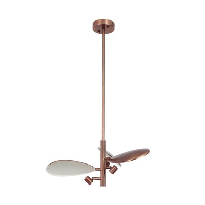 Gio 3-Light LED Geometric Pendant Finish: Brushed Copper