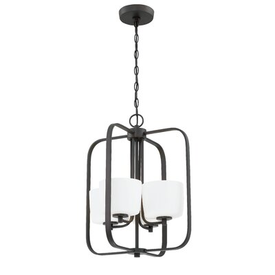 Rosalin 4-Light Foyer Pendant Finish: Aged Bronze Brushed