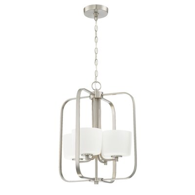 Rosalin 4-Light Foyer Pendant Finish: Brushed Polished Nickel