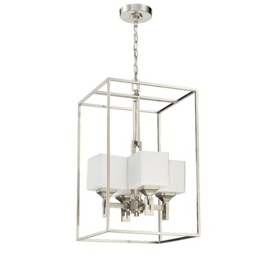 Nippal 4-Light Foyer Pendant Finish: Brushed Polished Nickel