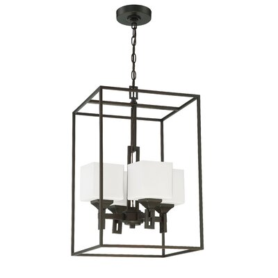 Nippal 4-Light Foyer Pendant Finish: Oil Bronze Gilded
