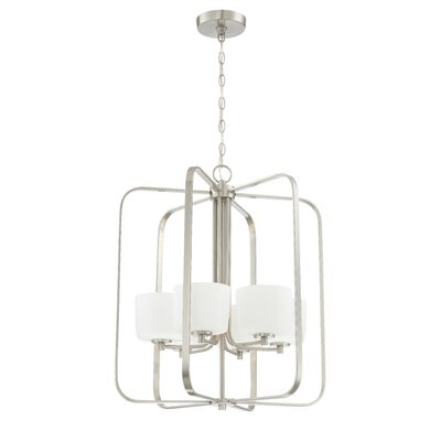 Rosalin 6-Light Foyer Pendant Finish: Brushed Polished Nickel