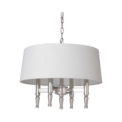 Quinlan 4-Light Drum Chandelier Finish: Polished Nickel