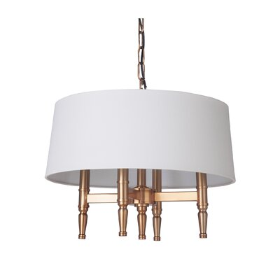 Quinlan 4-Light Drum Chandelier Finish: Satin Brass