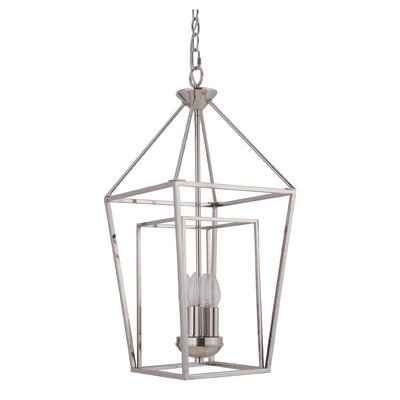 Roodhouse 4-Light Foyer Pendant Finish: Polished Nickel