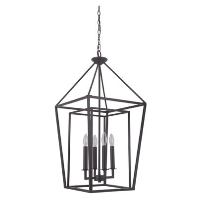Roodhouse 4-Light Metal Foyer Pendant Finish: Oiled Bronze