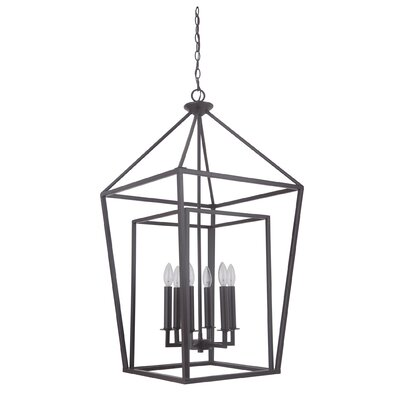 Roodhouse 6-Light Foyer Pendant Finish: Oiled Bronze