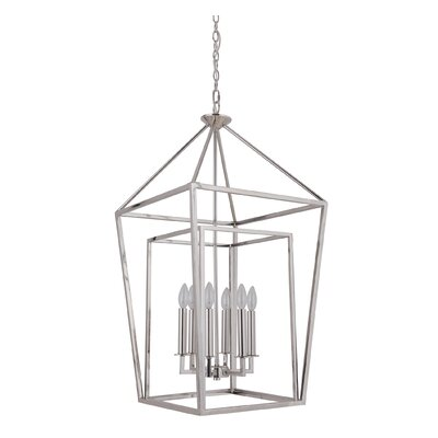 Minden 6-Light Foyer Pendant Finish: Polished Nickel