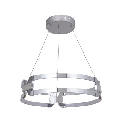 Jessa 1-Light LED Geometric Pendant Finish: Chrome