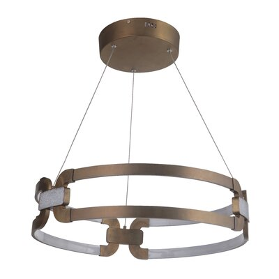 Jessa 1-Light LED Geometric Pendant Finish: Patina Aged Brass