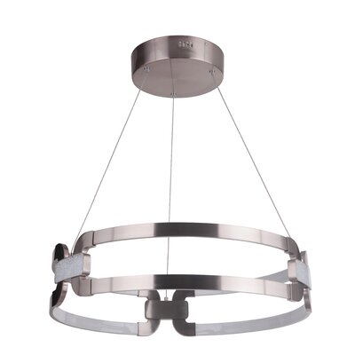 Jessa 1-Light LED Geometric Pendant Finish: Satin Rose Gold