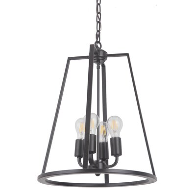 Vera 4-Light Foyer Pendant Finish: Oil Bronze Gilded