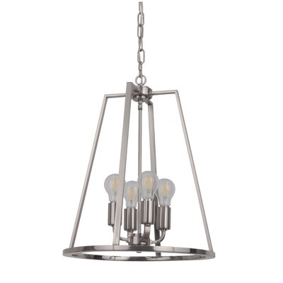 Vera 4-Light Foyer Pendant Finish: Polished Nickel