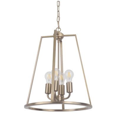 Vera 4-Light Foyer Pendant Finish: Satin Brass