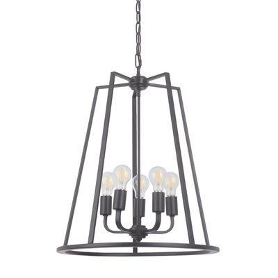 Vera 5-Light Foyer Pendant Finish: Oil Bronze Gilded