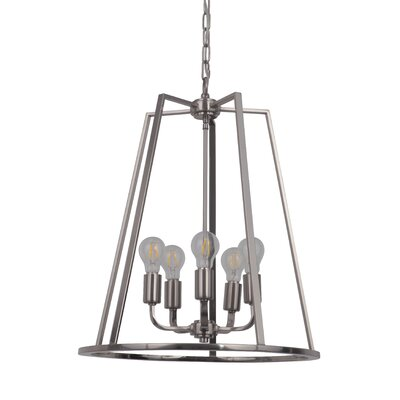 Vera 5-Light Foyer Pendant Finish: Polished Nickel