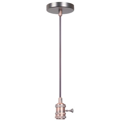 Collin Keyed Socket 1-Light Mini Pendant Finish: Brushed Copper