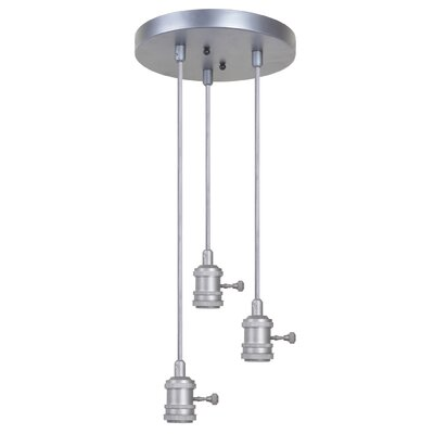 Collin 3-Light Cascade Pendant Finish: Aged Galvanized