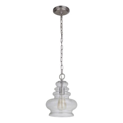 Ottawa 1-Light Mini Pendant Finish: Brushed Polished Nickel