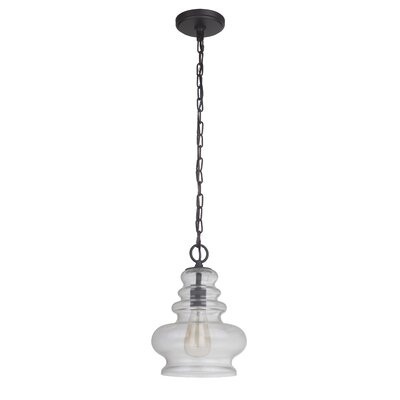Ottawa 1-Light Mini Pendant Finish: Matte Black