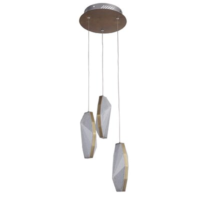 Merrin 3-Light LED Cascade Pendant Finish: Patina Aged Brass