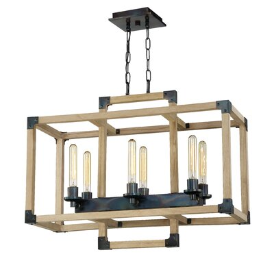 Tianna 6-Light Linear Candle-Style Chandelier