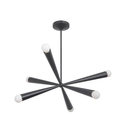 Broomfield 6-Light Sputnik Chandelier Finish: Gloss Black
