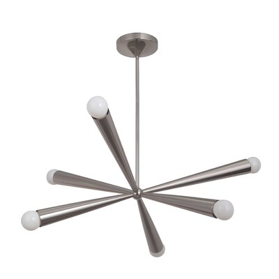 Campana 6-Light Sputnik Chandelier Finish: Polished Nickel