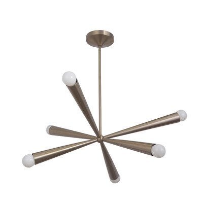 Broomfield 6-Light Sputnik Chandelier Finish: Satin Rose Gold