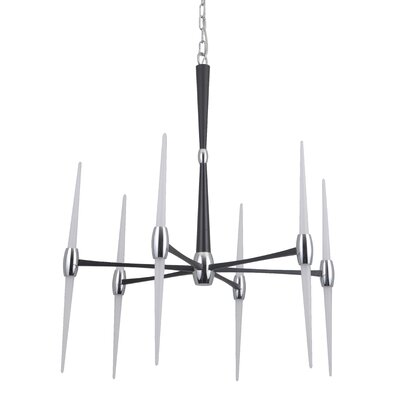 Francesca 1-Light LED Sputnik Chandelier Finish: Flat Black/Chrome