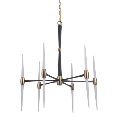 Francesca 1-Light LED Sputnik Chandelier Finish: Flat Black/Satin Brass